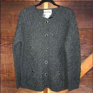 Aran Crafts Cardigan Sweater Made in Ireland